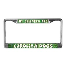 My Children Carolina Dog License Plate Frame