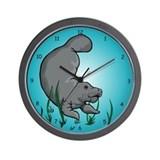 Swimming Manatee Wall Clock
