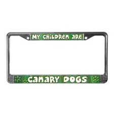 My Children Canary Dog License Plate Frame