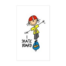 I Skateboard Rectangle Decal