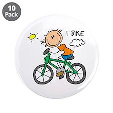 "I Bike 3.5"" Button (10 pack)"