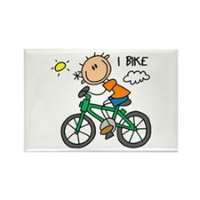 I Bike Rectangle Magnet (10 pack)