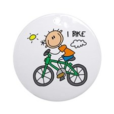I Bike Ornament (Round)