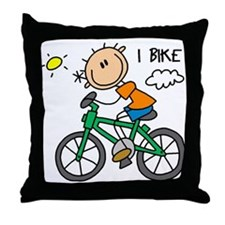 I Bike Throw Pillow