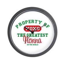 Property of Nonna Wall Clock