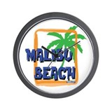 Malibu Beach Palm Tree Wall Clock