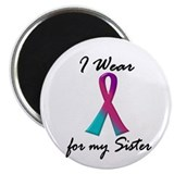 I Wear A Thyroid Ribbon 1 (Sister) Magnet