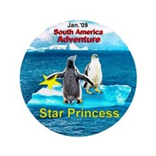 "STAR Penguins S. America Logo- 3.5"" Button (1"