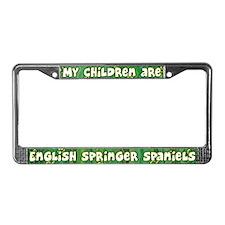 My Children English Springer License Plate Frame