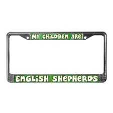 My Children English Shepherd License Plate Frame