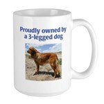 3-Legged Dog Large Mug