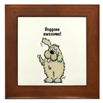 Doggone Awesome Mutt Framed Tile