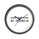 Legal Secretary In Training Wall Clock