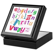 Funky Alphabet Keepsake Box