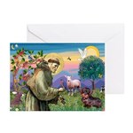 St Francis Doxie Greeting Cards (Pk of 10)