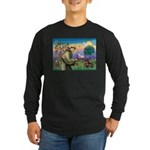St Francis Doxie Long Sleeve Dark T-Shirt