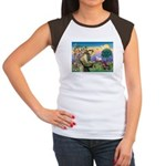 St Francis Doxie Women's Cap Sleeve T-Shirt
