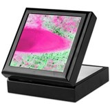 Abstract Pink Ice Green Gravel Keepsake Box