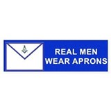 Masonic Real Men Wear Aprons Bumper Bumper Sticker