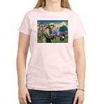 St. Francis Brindle Frenchie Women's Light T-Shirt