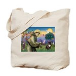 St. Francis Brindle Frenchie Tote Bag