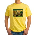 St. Francis Brindle Frenchie Yellow T-Shirt