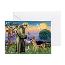 St Francis / G Shep Greeting Card