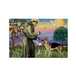 St Francis / G Shep Rectangle Magnet (10 pack)