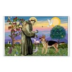 St Francis / G Shep Rectangle Sticker
