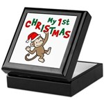 My First Christmas - Monkey Keepsake Box
