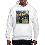 St Francis & Golden Hooded Sweatshirt