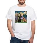 St Francis & Golden White T-Shirt