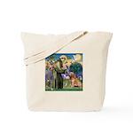 St Francis & Golden Tote Bag
