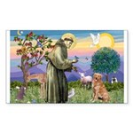 Saint Francis' Golden Rectangle Sticker