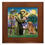 Saint Francis' Golden Framed Tile