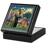 Saint Francis' Golden Keepsake Box
