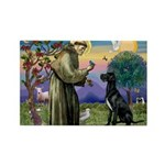 St Francis / Black G-Dane (N) Rectangle Magnet