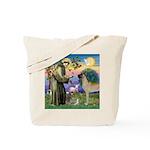Saint Francis' Great Dane Tote Bag