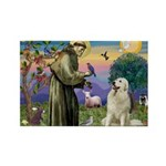 St. Francis & Great Pyrenees Rectangle Magnet