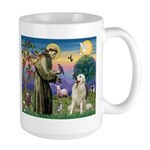 St. Francis & Great Pyrenees Large Mug