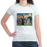 St. Francis & Great Pyrenees Jr. Ringer T-Shirt