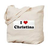 I Love Christina Tote Bag