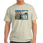 St Francis / 2 Irish Wolfhounds Light T-Shirt