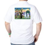 St Francis / 2 Irish Wolfhounds Golf Shirt
