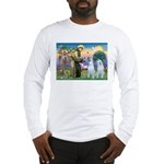 St Francis / 2 Irish Wolfhounds Long Sleeve T-Shir