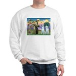 St Francis / 2 Irish Wolfhounds Sweatshirt