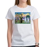 St Francis / 2 Irish Wolfhounds Women's T-Shirt