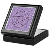 Amethyst Pentagram Crystal Keepsake Box