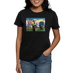 St Francis Chocolate Lab Women's Dark T-Shirt