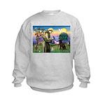 St Francis Chocolate Lab Kids Sweatshirt